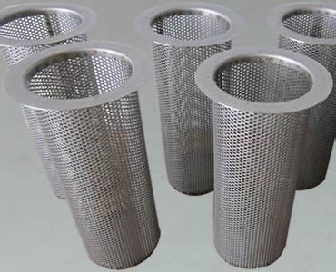 perforated filter tube   hole shapes