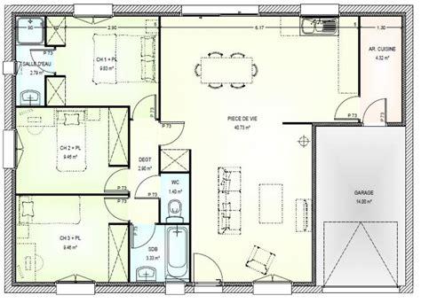 Plan De Maison 3 Pieces Gratuit