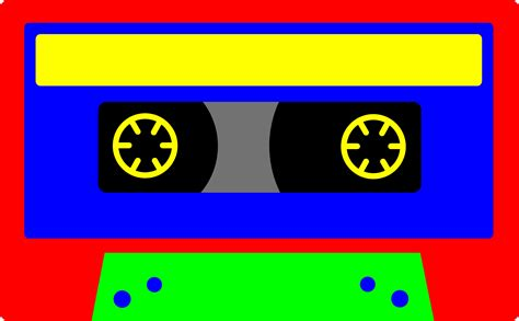 colorful kids cassette tape  clip art
