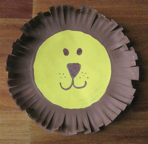 lion preschool craft derosier my creative paper plate 254