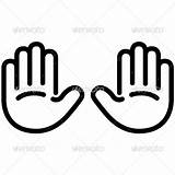 Hand Outline Handprint Clipart Icon Palm Coloring Template Helping Hands Clip Outlines Graphicriver Clipartpanda Clipartmag Sign Vector Simple Presentations Websites sketch template