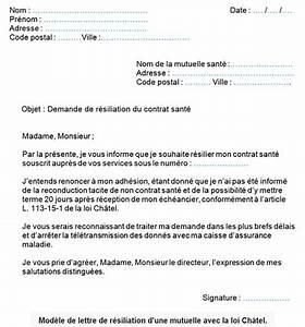 Résiliation Contrat Assurance Voiture : modele lettre resiliation assurance mutuelle sante forestier rhone alpes ~ Gottalentnigeria.com Avis de Voitures