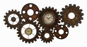 Seven Gears - Metal Clock Wall Art
