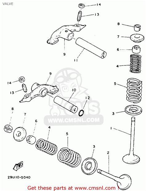 yamaha yfb250e timberwolf 1993 valve schematic partsfiche