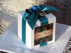 wedding favor containers personalized peacock wedding favor boxes 3 inch by shadow090109