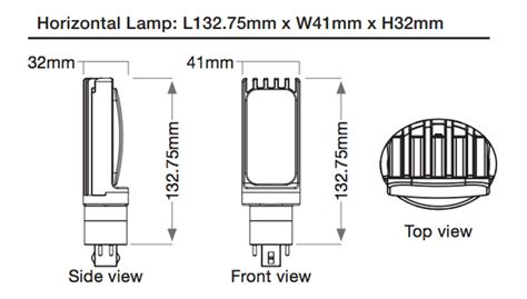 lunera helen l 13 watt horizontal g24 cfl replacement