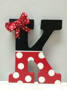 minnie mouse hand painted wooden letter  crafteethings