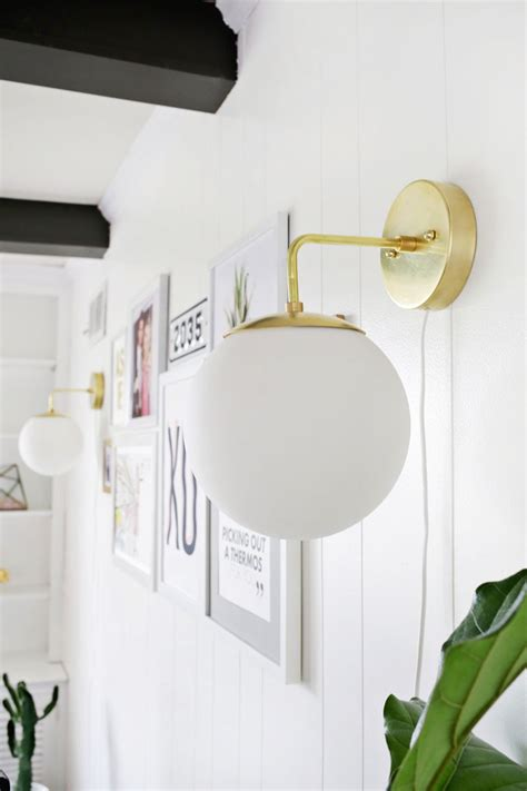 brass globe sconce diy  beautiful mess