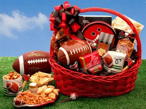 cool gifts for football fans football fanatic sports gift basket unique gift ideas
