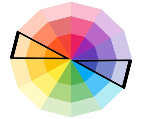complementary color wheel color wheel picking a complementary color stencil