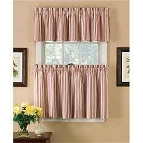 tier curtains ticking stripe and country living on pinterest