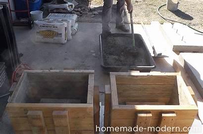 Concrete Homemade Modern Bench Diy Outdoor Ep57