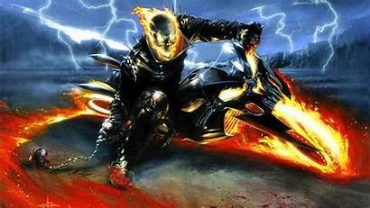 Rider Ghost Wallpapers Halloween Skull Scary Fantasy