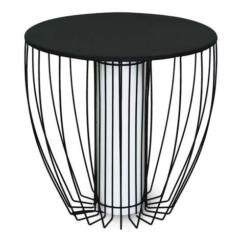 bout de canapé alinea bout de canapé lumineux en acier noir tables basses consoles tables et chaises
