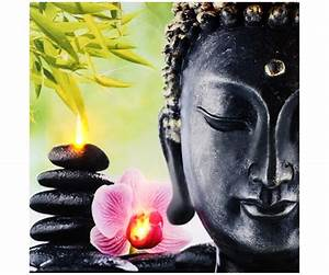Tableau Toile Cadre LED Dco Zen Bouddha Colonne Galets