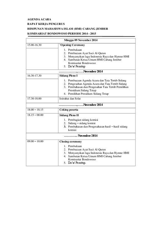 Membuat Acara Rapat by Contoh Surat Undangan Hmi Suratmenyurat Net