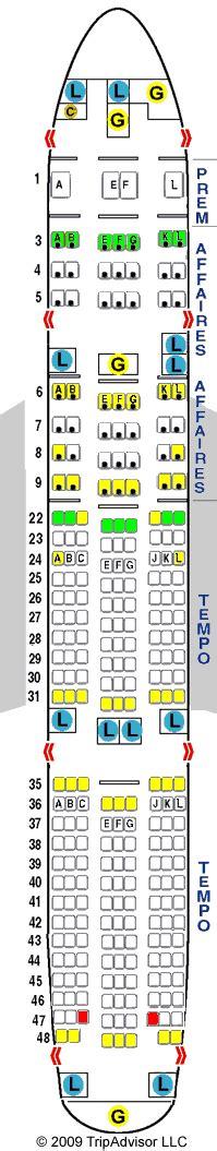 boeing 777 200 sieges 777 200 307 pax gif air la premiã â re et la cabine
