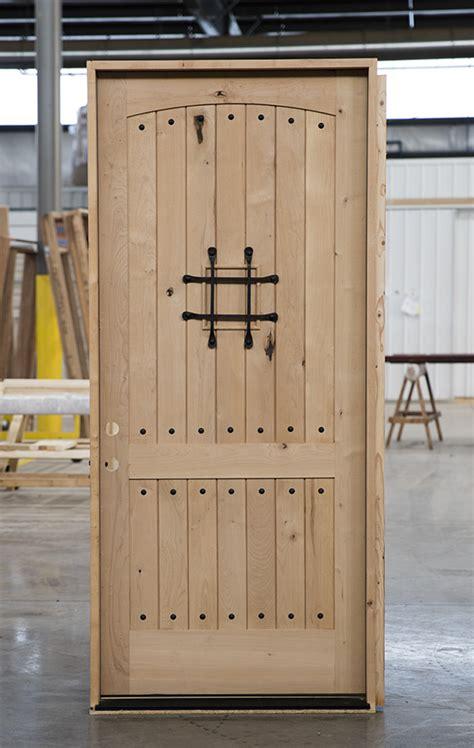 knotty alder rustic door