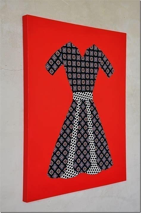 fabric dress wall art     piece  textile art