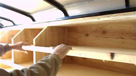 construction trailer shelves layout youtube