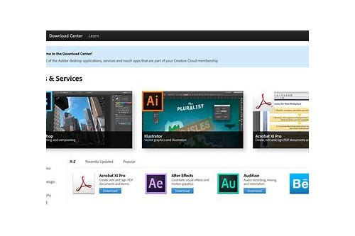 creative cloud download center