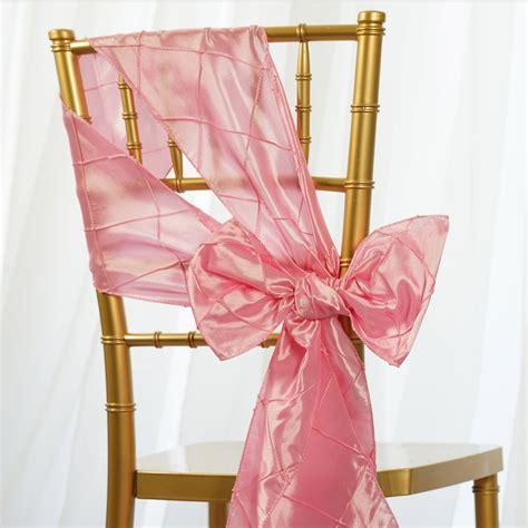 20 pintuck taffeta chair sashes ties bows wedding party