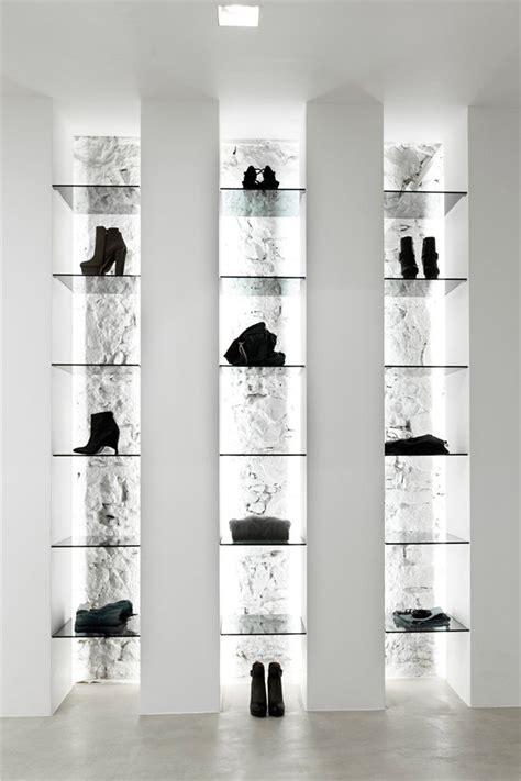 shoe accessories display  indirect lighting elle