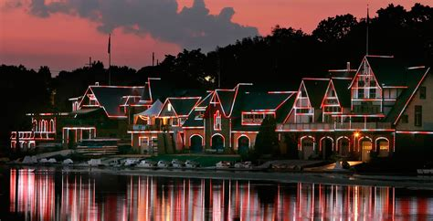 Boathouse Row by Boathouse Row Debuts A Brand New Light Show During A Free