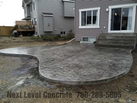 Stamped Concrete Patio  Next Level Concrete Ltd. Modern Patio Furniture Styles. Patio Planting Plans. Back Porch Lighting Ideas. What Is Patio Deck. Pvc Patio Furniture San Antonio. Large Oval Patio Table Cover. Plastic Stackable Patio Dining Chair. Outdoor Patio Table Lowes
