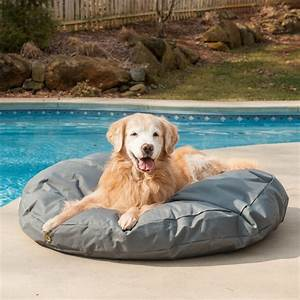 outdoor waterproof round dog bed snoozer pet products With outside dog bed