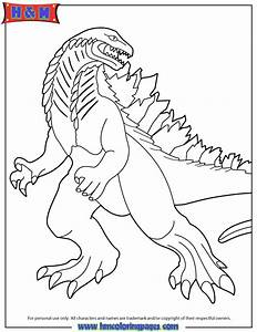 New 2014 Godzilla Coloring Page | H & M Coloring Pages