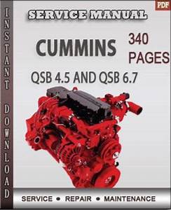 The Cummins Qsb 4 5 And 6 7 Engine Service Repair Manual
