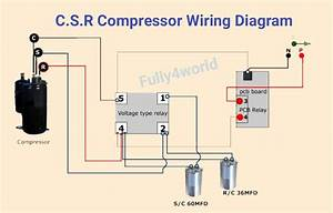 C S R Compressor Wiring Diagram With Voltage Type Relay In
