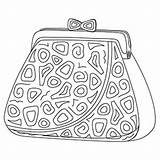 Coloring Printable Purse sketch template