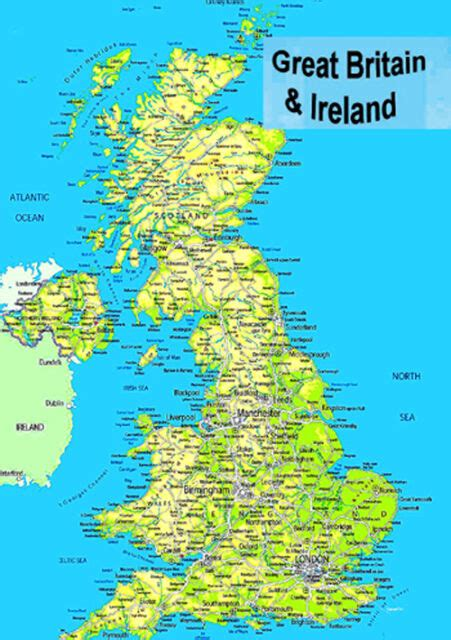 laminated map  great britain uk england scotland wales