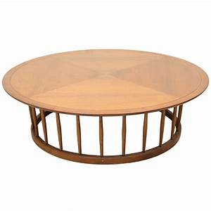 john van koert round spindle coffee table for drexel at With spindle coffee table