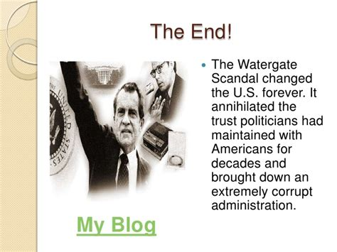 watergate scandal powerpoint end changed