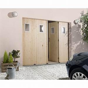 Garage En Bois Leroy Merlin : porte de garage coulissante manuelle primo x ~ Melissatoandfro.com Idées de Décoration