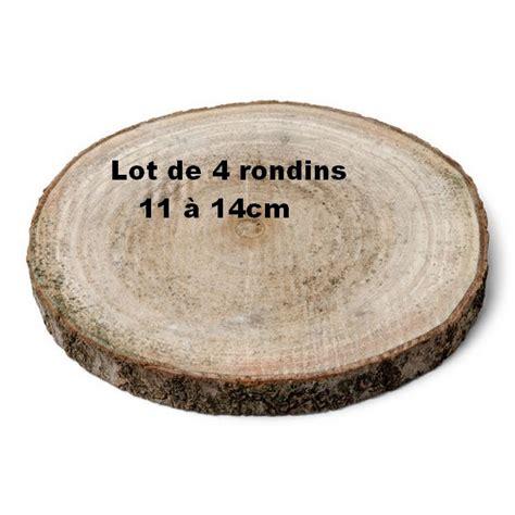 Décor De Table Rondin De Bois D1114cm Lot De 4 1001