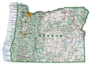 Oregon Map with Cities
