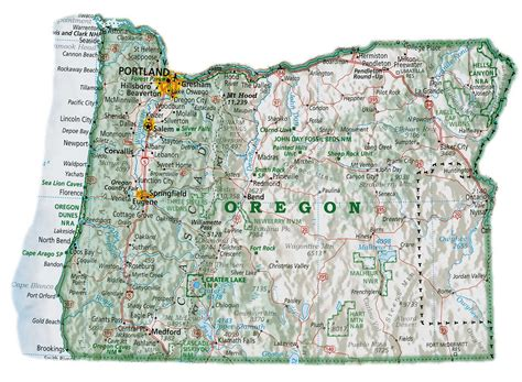 maps oregon map  cities