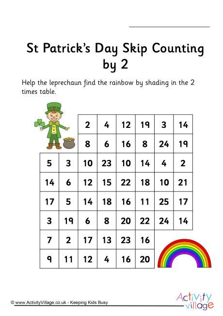 st patrick s day stepping stones skip counting by 2