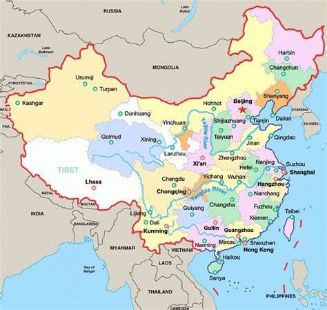 map  china provinces  major cities  travel