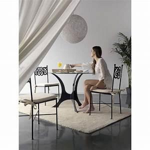 Table Fer Forgé Ronde : table en fer forg ronde milos granada 4 pieds tables chaises et tabourets ~ Teatrodelosmanantiales.com Idées de Décoration
