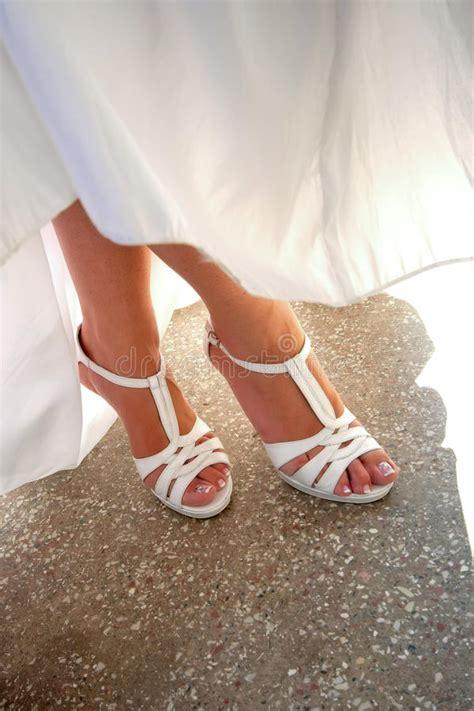 bride legs  shoes stock photo image  wedding foot