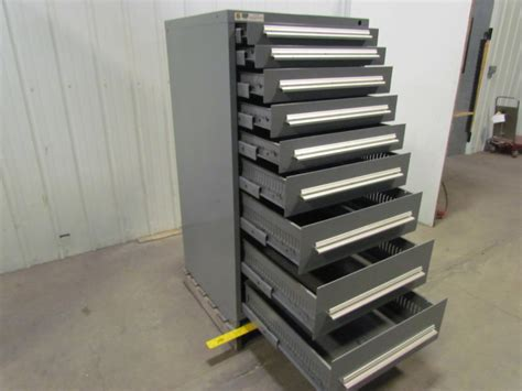 parts cabinet with drawers stanley vidmar 9 drawer industrial parts tool storage shop
