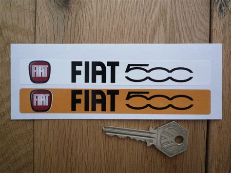 Fiat 500 Number Plate Dealer Logo Cover Stickers. 5.5