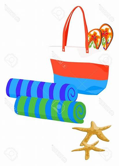 Towels Clipart Flops Flip Towel Beach Bag