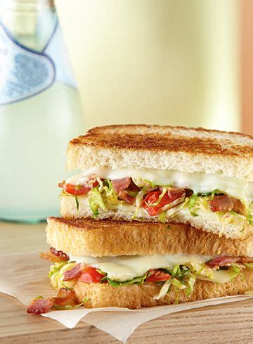 american deli sandwich recipes a grilled cheese sandwich the deli american way loaded with brussels sprouts bacon and lots