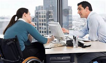 Disabled Person Support Office Employment Workplace Business